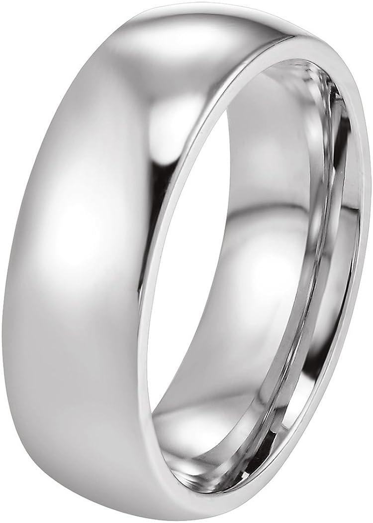 PROSTEEL Bague Simple Personnalisable pour Homme Femme Alliance Anneau Poli en Acier//Plaqu/é Or 18 Carats//Ionplating Blue Wedding Ring pour Couple Amoureux 3 Couleur au Choix