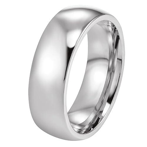 PROSTEEL 6mm Anillo del Estilo Sencillo de Acero Inoxidable para Hombre y Mujer Anillo de Matrimonio Anillo de Compromiso Tlla 10(15.9)-30(22.3)