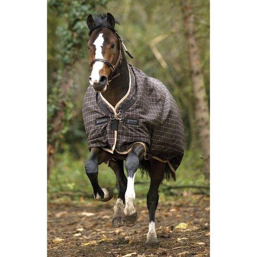 Rhino Pony Wug Winterdecke, Medium, Gewicht schokobraun/cremefarben 66/1506