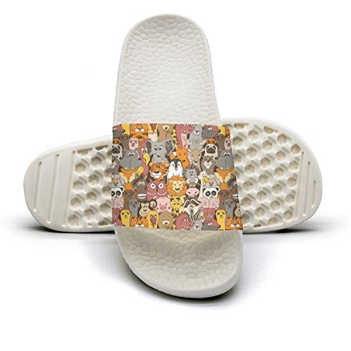 qiopw rtw Bathroom Shower Non-slip Sandal Colorful Giant Panda Bear Indoor Slipper Shoes For Women