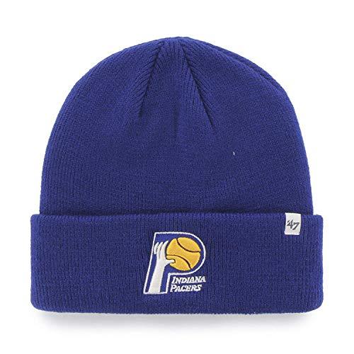 '47 Indiana Pacers Royal Blue Cuff Beanie Hat - NBA Cuffed Knit Toque Cap ()