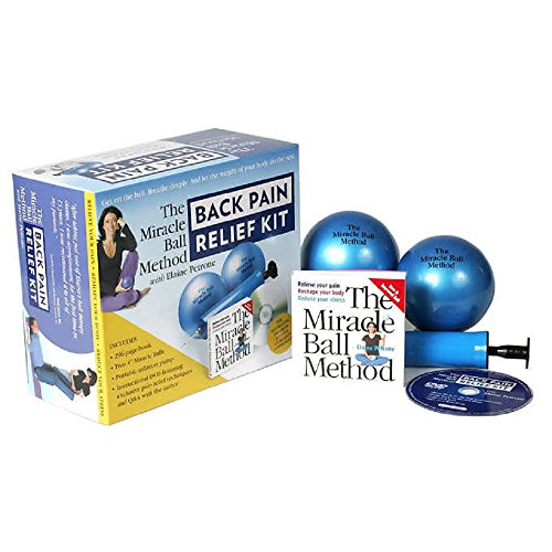 (The Miracle Ball Method with Elaine Petrone Back Pain Relief Deluxe Kit Includes: Instruction Book, 2- 4