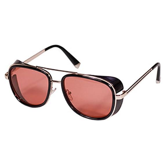 8c04ab2771 Deylay Steampunk Gafas de Sol Hombre Mujer Mirrored Glasses Vintage Gafas  de Sol Color 4: Amazon.es: Ropa y accesorios