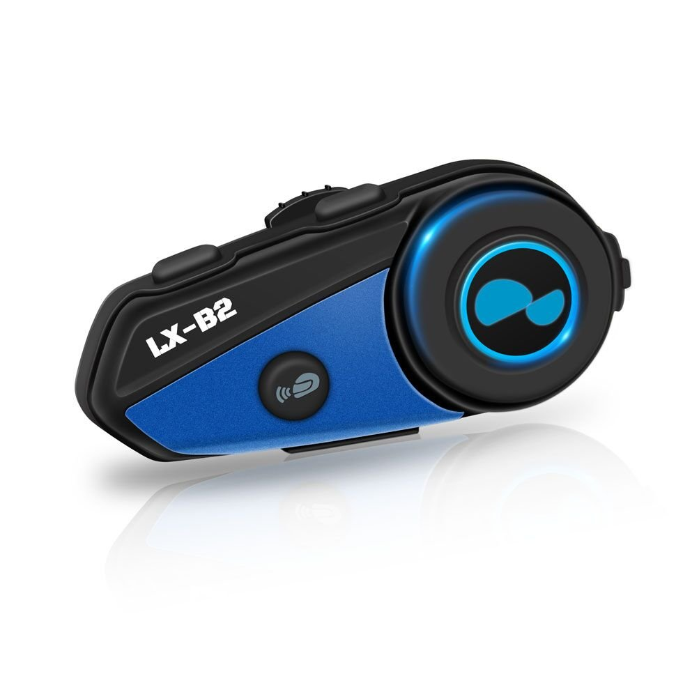 LEXIN LX-B2 MotoFõn BT Interphone Bluetooth Motorcycle Helmet Intercom Headset, Motorbike Communication System for Rider