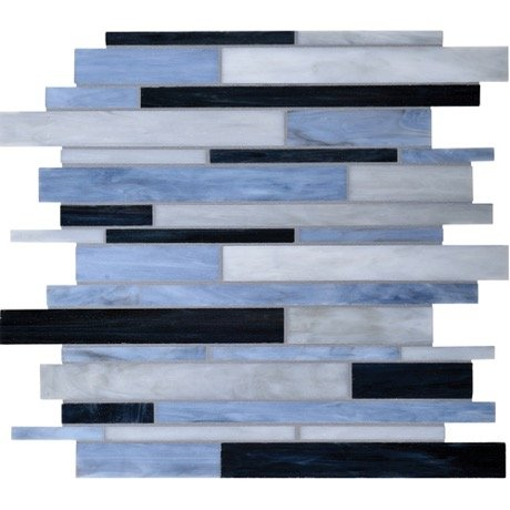 Dazzle Mosaic Matchstix Mockingbird 12 in. x 12 in. x 3 mm Glass Floor and Wall Tile Stained glass for Kitchen Backsplashes, Bathroom Walls, Spas, Pools by Dazzle Mosaic (10 Pack)