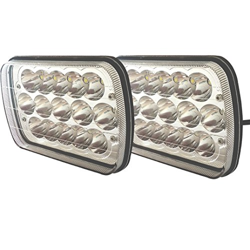 TURBO SII 86-95 Jeep Wrangler JK YJ CJ TJ MJ XJ Rectangular 7×6 Inch LED Headlights Bulb Sealed Beam H6014 H6052 H6053 H6054 Projector lens For Freightliner Peterbilt International Mack 2PCS