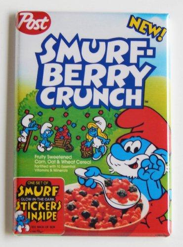 Smurf Berry Crunch Cereal Fridge Magnet