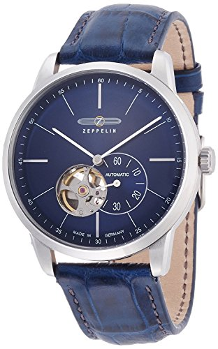 ZEPPELIN watch flat line navy dial automatic winding 73643 Men's [regular imported goods]