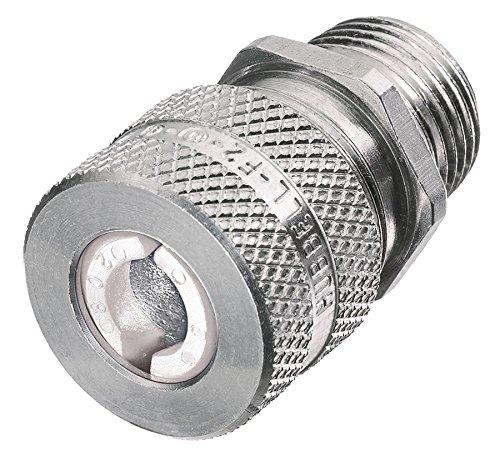 Hubbell SHC1032 Kellems Wire Management Cord Connectors, Straight Male, Aluminum, 3/4'' Hub, 0.25-0.38'' Diameter