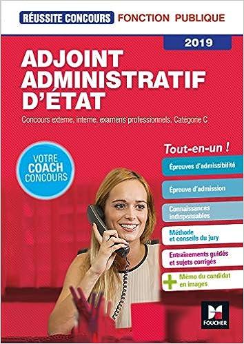 2c220339346 Amazon.fr - Réussite Concours - Adjoint Administratif d Etat - Catégorie C  - 2019 - Préparation complète - Denise Laurent