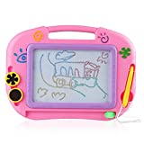 Best Small World Toys Infant Travel Toys - D-FantiX Small Magnetic Drawing Board for Kids Toddlers Review