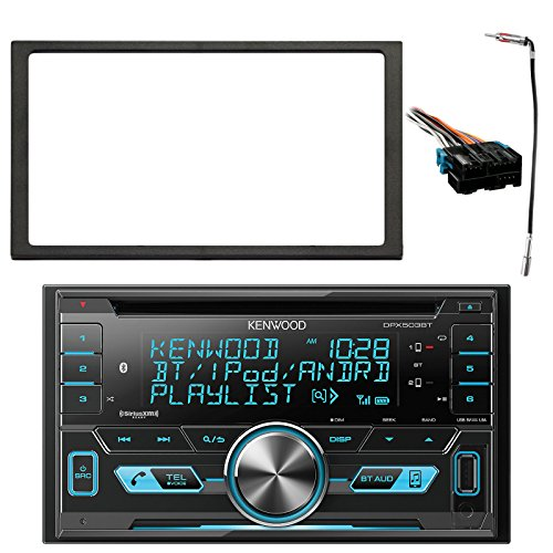 Kenwood 2-DIN Bluetooth CD AM/FM USB Car Audio Receiver, Enrock Double DIN Install Dash Kit, Metra Radio Wiring Harness, Enrock Antenna Adapter (Select 1994-2005 Vehicles) ()