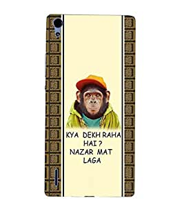 For Huawei Ascend P7 kya dekh raha hai? Nazar mat laga, good quotes, pattern Designer Printed High Quality Smooth Matte Protective Mobile Case Back Pouch Cover by APEX