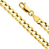 Men's 14k Yellow Gold 5.5mm Cuban Curb Chain Necklace