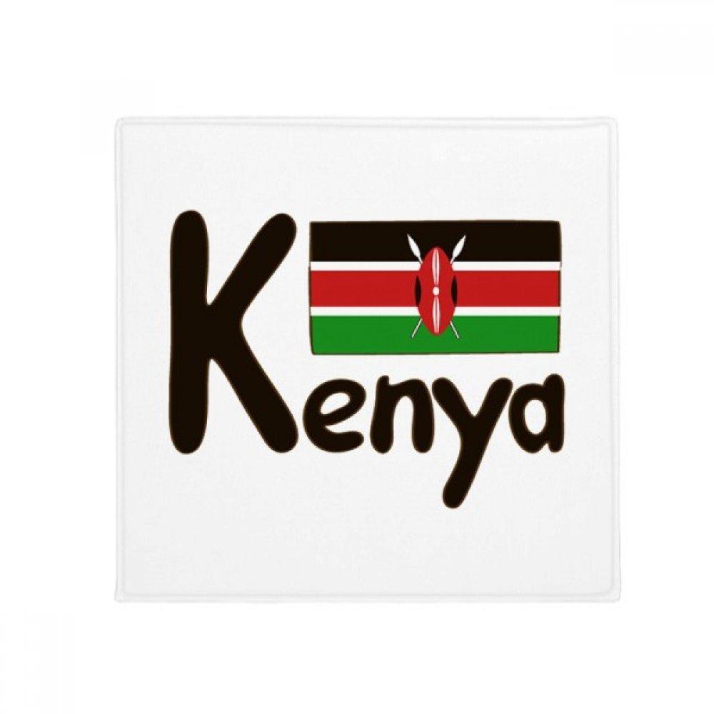 DIYthinker Kenya National Flag Black Pattern Anti-Slip Floor Pet Mat Square Home Kitchen Door 80Cm Gift