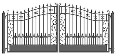 ALEKO Iron Dual Swing Venice Driveway Gates