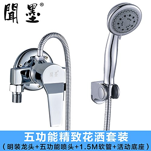 In the Shower - Water Outlet is Up-to-shower Kit NewBorn Faucet Kitchen Or Bathroom Sink Mixer Tap Shower Water Mixing Valve Full Copper Shower Pack Hot And Cold Bath Shower Water Tap Mixing Valve Hot Water For The Shower Water Outlet On Top