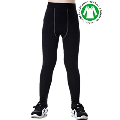 Boys Compression Pants Base Layers Soccer Hockey Tights Athletic Leggings Thermal for Kids