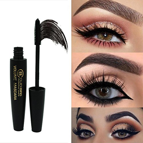 Inverlee New Eyelash Mascara Long Black Lash Extension Waterproof Eye Makeup Tool - Best for Thickening & Lengthening (Purple And Black Halloween Nail Designs)