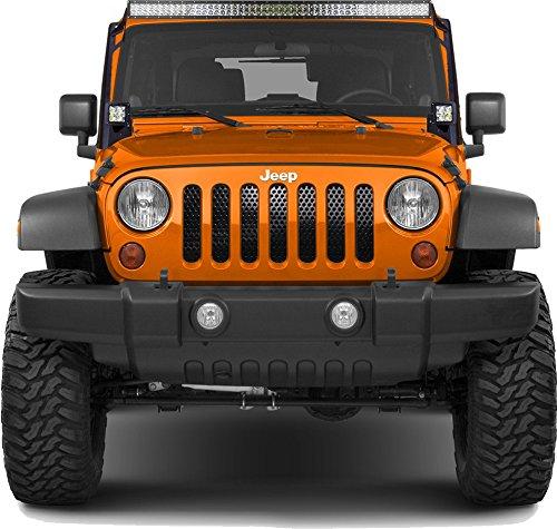 JWM 4x4 Billet Grille Insert for Jeep Wrangler JK (2007-2017) - Chrome