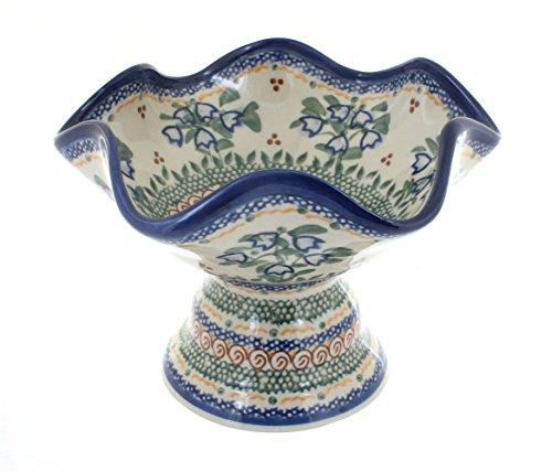 Polish Pottery Bluebell Pedestal Candy Dish ()