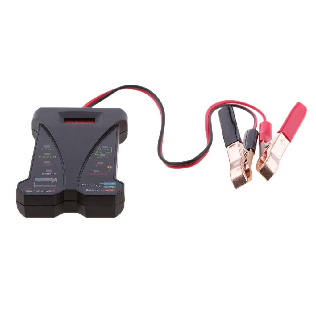 monkeyjack 12 Vオートバイ車電圧計バッテリーテスター充電Analyzerツール – ブラック B0777N7D5M