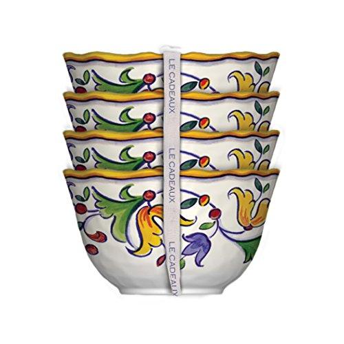 Le Cadeaux Melamine Capri - Set of 4 Dessert Bowls