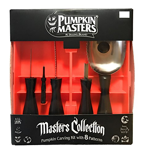 Pumpkin Masters Masters Collection Pumpkin Carving Kit, #1 Brand, 5 Tools, 8 Patterns by Pumpkin Masters