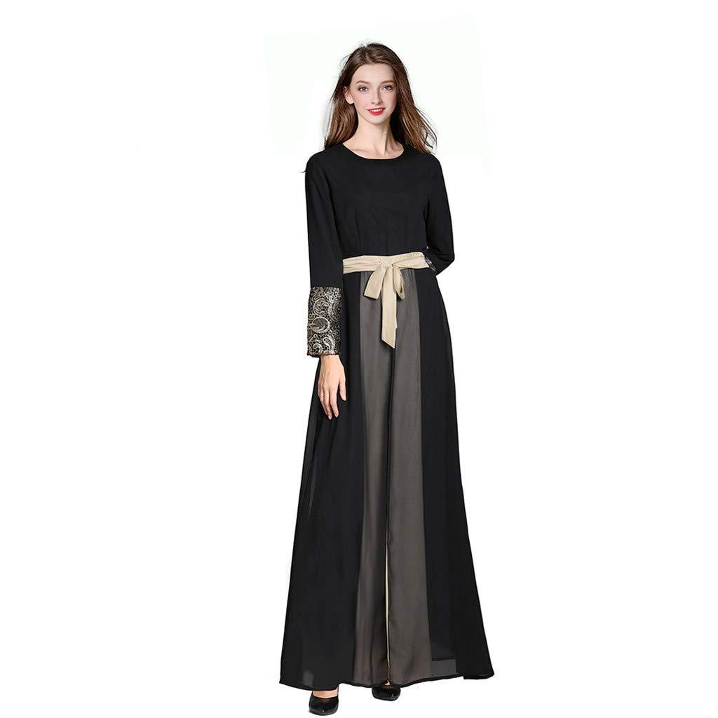 Eruption_X  Fashion Women's Summer Casual Loose Long Dress Swing Party Dress Blue