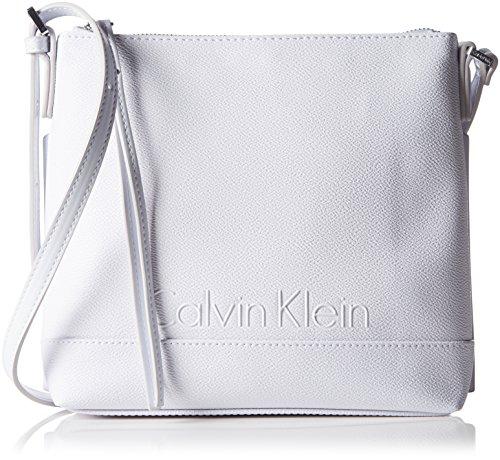Melissa Crossover bianco tracolla Borse Os Flat Calvin per Accessori a Klein donna BwxIUE