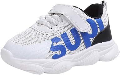 YanHoo Calzado Deportivo para niños Malla Deportiva para Niños pequeños Deportes para niños Zapatillas de Deporte para niños Zapatillas de Malla con Estampado de niños: Amazon.es: Ropa y accesorios