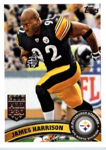 2011 Topps Football Card IN SCREWDOWN CASE #138 James Harrison Mint