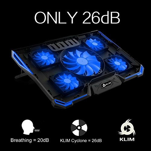 ⭐️ Klim Cyclone Laptop Cooling Pad – 5 Fans Cooler – No More Overheating – Increase Your PC Performance and Life Expectancy – Ventilated Support for Laptop – Gaming Stand to Reduce Heating – Gamer by KLIM Technologies (Image #3)