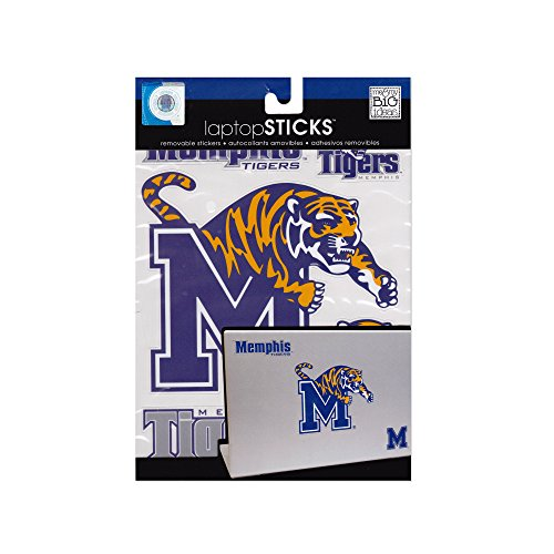 - me & my BIG ideas laptopSTICKS Removable Laptop Stickers, Memphis Tigers