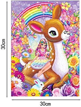 30cm Fansi 1X DIY 5D Kits de Pintura de Diamantes Animal Diamond Painting Full Diamond Rhinestone Bordado Pintura Sala de Estar Dormitorio Home Decor Art Crafts Mural 30