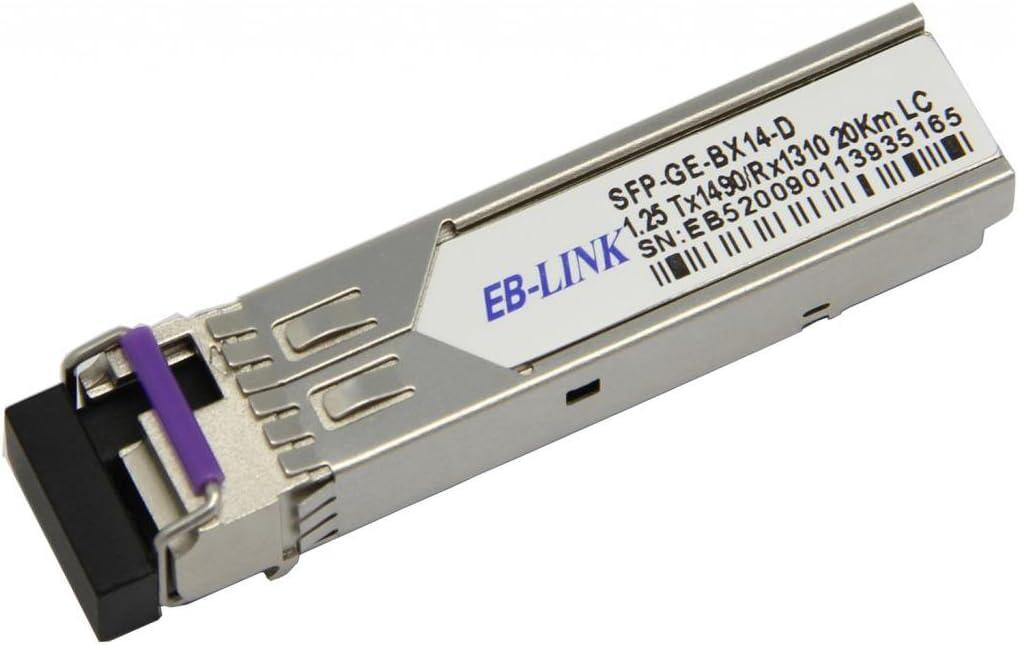 EB-LINK Cisco Compatible GLC-BX-D BIDI 1.25G TX1490//RX1310nm 10KM SFP Transceiver Module