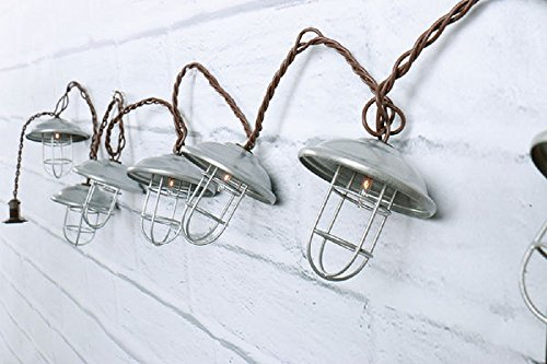 Metal Cage Outdoor String Lights in US - 2