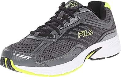 Fila Men's Xtenuate Dark Shadow/Castlerock/Safety Yellow Sneaker 8 D (M)