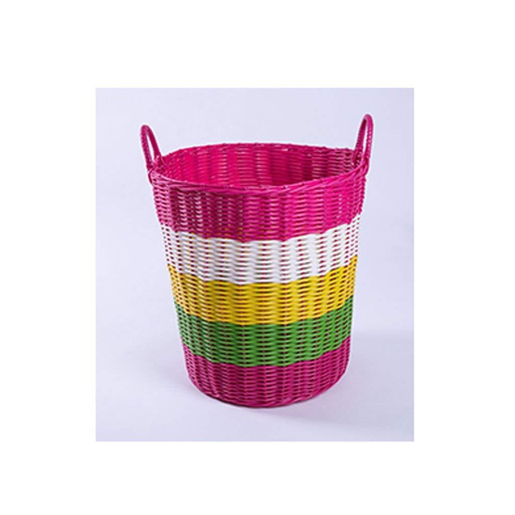 大型収納バスケット折りたたみ玩具バスケット プラスチック製の邪魔者、汚れた衣類収納籠、衣類かご、浴室、おもちゃ箱、洗濯かごGHJ(カラー:#4) ランドリーバスケット収納ロープ収納バスケットランドリーダンパー (色 : #4) B07TCN76HK #4
