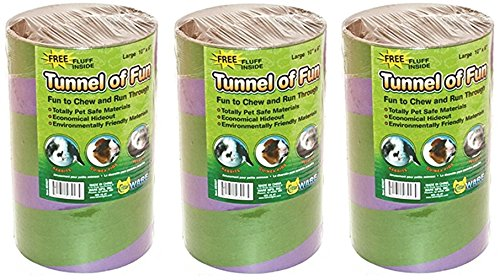 (3 Pack) Ware Manufacturing Tunnels of Fun Small Pet Hideaway, Large