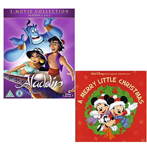 Aladdin Complete Collection Box-Set - Disneys A Merry Little Christmas - Walt Disney Bundling Blu-ray + CD