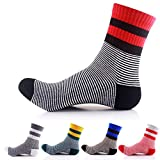 Men's Cotton Quarter Athletic Sock 5 Pairs(Assorted Color)