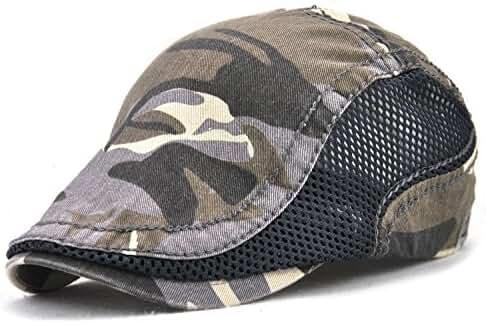 YCHY Cotton Flat Cap Duckbill Hat Newsboy Ivy Irish Cabbie Scally Cap