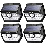 LITOM Classic Solar Lights Outdoor, 20 LED Wireless Motion Sensor Lights(White Light), 270°Wide Angle, IP65 Waterproof, Easy-to-install Security Lights for Front Door, Yard, Garage, Deck, Porch-4 Pack