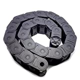 1000mm Black Long Nylon Cable Drag Chain 25 x 38mm
