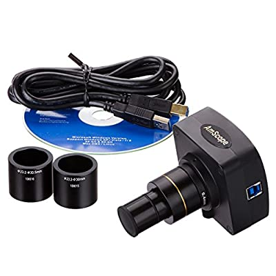 AmScope MU1403-CK 14MP Live Video USB3.0 Microscope Digital Camera 14 MP + Calibration Kit