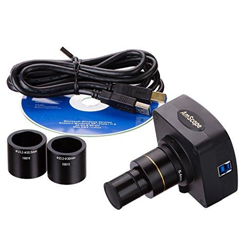 AmScope MU1403-CK 14MP Live Video USB3.0 Microscope Digital Camera 14 MP + Calibration Kit