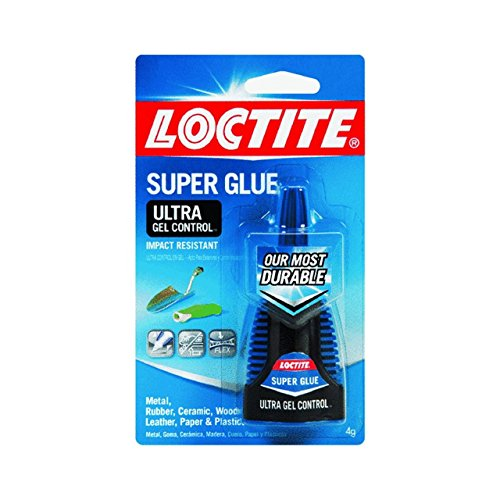 Henkel-Loctite 1363589 4 Gram Super Glue Ultra Gel Control, Clear (4-Pack) (Ca Glue Loctite)