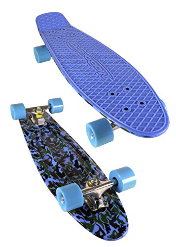MoBoard 27' Graphic Complete Skateboard, Blue Camo