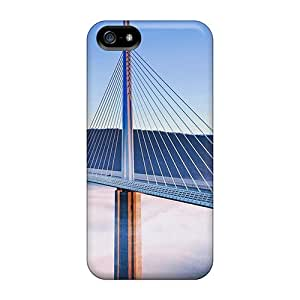Shock-dirt Proof Fog On The Magnificent Bridge At Millau France Case Cover For Iphone 5/5s